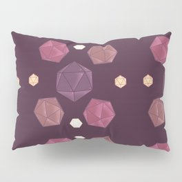 Red and Purple DnD Dice Pillow Sham
