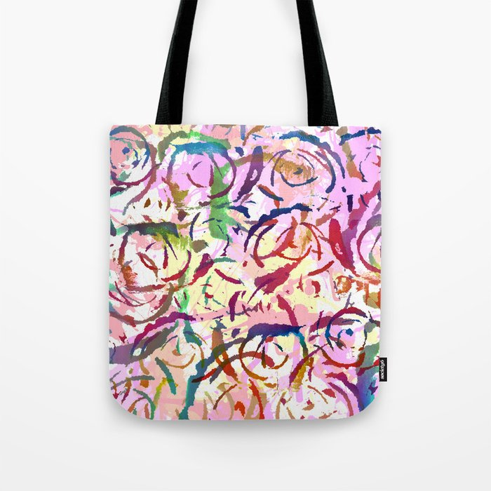 abstract roses silhouettes Tote Bag