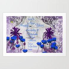 HAPPY NEW YEAR SOCIETY 6 Art Print