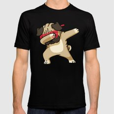 Dabbing Pug Black LARGE Mens Fitted Tee