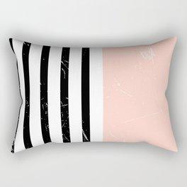 Minimalism Pattern | Blush | Millennial Pink | Modern | Geometric Rectangular Pillow