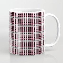Pink and gray plaid Coffee Mug