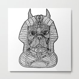 Nema_Boston_Terrier_Pharaon Metal Print