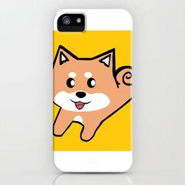 Mustard Shiba Inu iPhone Case