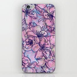 Over and Over Flowers 2 iPhone Skin