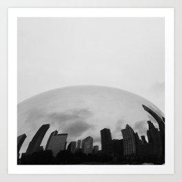 The Bean Skyline Art Print