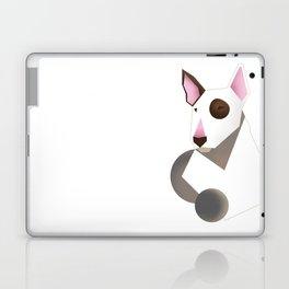 White bull terrier Laptop & iPad Skin
