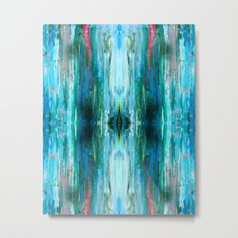 Abstract Ice Pattern Metal Print