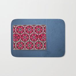 Romany Love 510 on blue wall Bath Mat