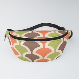 Classic Fan or Scallop Pattern 413 Orange Green and Brown Fanny Pack