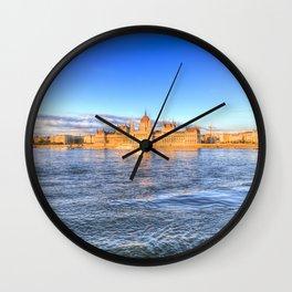 Budapest Sunset Wall Clock