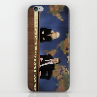 amy poehler iPhone & iPod Skins featuring seth & amy by Bad Movies