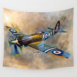Spitfire Dawn Flight Wall Tapestry