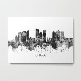 Dhaka Bangladesh Skyline BW Metal Print