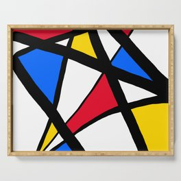 Red, Yellow, Blue Primary Abstract Serving Tray