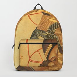 Orthodox Icon of Virgin Mary and Baby Jesus Backpack
