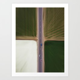 Blurred quadrant Art Print