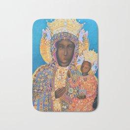 Black Madonna Poland Our Lady of Czestochowa Virgin Mary Christmas Gift Religion Bath Mat