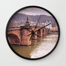 Heidelberg Bridge Wall Clock