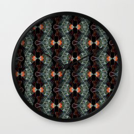 Glass and Lights Kaleidoscope Scanography Wall Clock