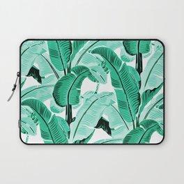 jungle leaf pattern mint Laptop Sleeve