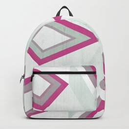 >> Pink and Gray Tribal on Wood >> Backpack