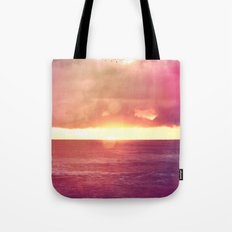Ocean Sunset Bokeh Tote Bag