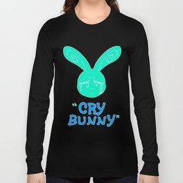 Cry Baby Cry Bunny Blue Long Sleeve T-shirt