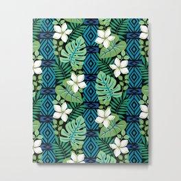 Tropical White Flowers Metal Print