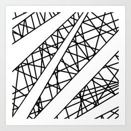 Lazer Dance X Art Print