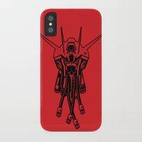 gundam iPhone & iPod Cases featuring Gundam Black by deeviousgenius