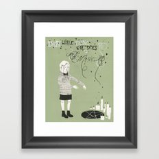 Every Little Thing She Does in green Framed Art Print