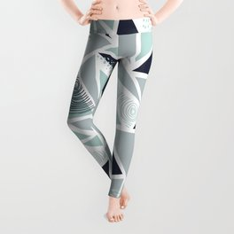 Geometric Pattern 02 • Sea Glass Leggings