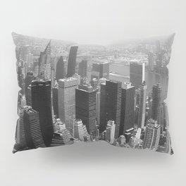 New York City Black and White Pillow Sham