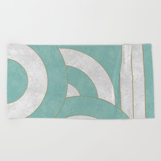 Geometric Marble 04 Beach Towel
