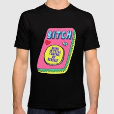 Bitch Stands For... MEDIUM Mens Fitted Tee Black