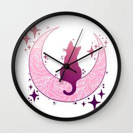 Mooncat (Pink) Wall Clock