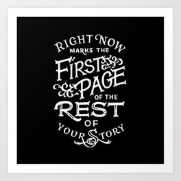 The First Page Art Print
