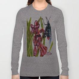 Oleander Wasp Moth Study Long Sleeve T-shirt