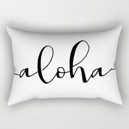 Aloha, Printable Quote, Hawaiian Quote, Hawaiian Art Rectangular Pillow
