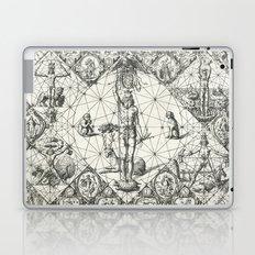 Vintage Zodiac and Elements Chart, Year 1597 Laptop & iPad Skin