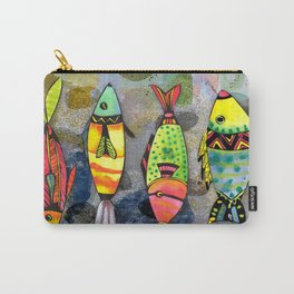 Tribal Fish Carry-All Pouch