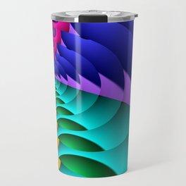 whirls of color -02- Travel Mug