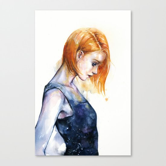 heliotropic girl Canvas Print