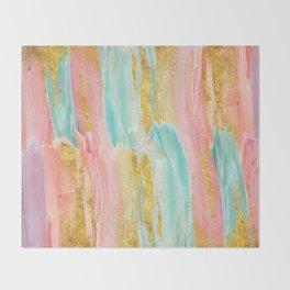 Gilded pastels Throw Blanket