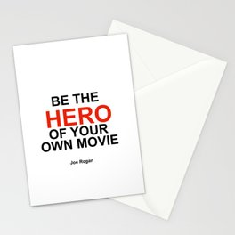 """""""Be the Hero of your own movie"""" Joe Rogan Stationery Cards"""