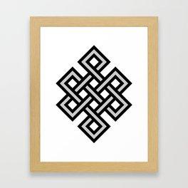 Tibetan knot symbol Framed Art Print