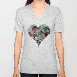 Love - Original Sea Glass Heart Unisex V-Neck