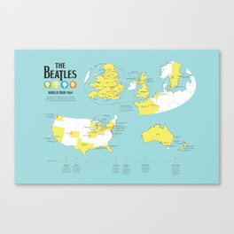 World Tour Canvas Print