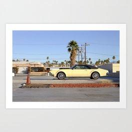 Car in Palm Springs  Art Print